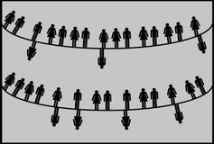 Circles of life. Analysis of family. Divorce statistics. vector illustration