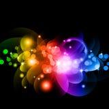 Circles of llight with Raibow Colours Stock Photos