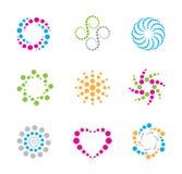 Circles logos and icons Royalty Free Stock Photos
