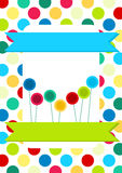 Circles and Lollipops Invitation Card Royalty Free Stock Image