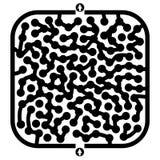 Circles maze Royalty Free Stock Photos