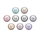 Circles with Numbers Royalty Free Stock Photo