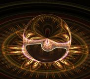 Circles and Orb 3d Abstract Royalty Free Stock Photo