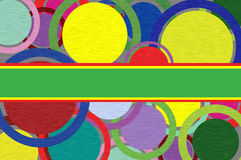 Circles on a paper background. Royalty Free Stock Images