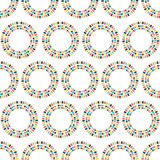 Circles of the party flags. Seamless pattern. Royalty Free Stock Photography