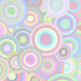 Circles in pastel colors Royalty Free Stock Images