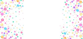 Watercolor simple polka dot pattern. Colorful confetti scattered around. Royalty Free Stock Photos