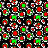 Circles patter. N in fashion trend colors Stock Photo