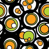 Circles pattern. In fashion trend colors Royalty Free Stock Photography