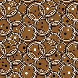 Circles pattern. In fashion trend colors Stock Image