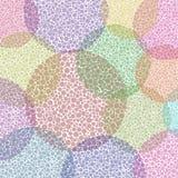 Circles pattern. Abstract polka dot circles pattern vector illustration