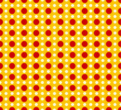 Circles pattern - Basic duotone, red-yellow repeatable pattern Royalty Free Stock Photo