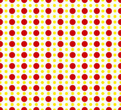 Circles pattern - Basic duotone, red-yellow repeatable pattern royalty free illustration