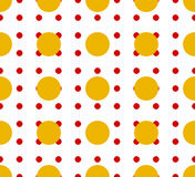 Circles pattern - Basic duotone, red-yellow repeatable pattern stock illustration