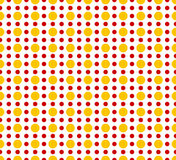 Circles pattern - Basic duotone, red-yellow repeatable pattern vector illustration