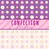 Circles pattern candies on a pink background Royalty Free Stock Photography