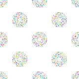 Circles pattern in fashion trend colors. Vector illustration Stock Photography