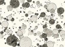 Circles pencil sketch Stock Images