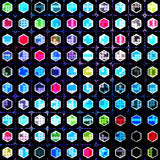 Circles and polygons abstract geometric background Royalty Free Stock Images