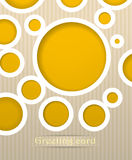 Circles postcard illustration Stock Images