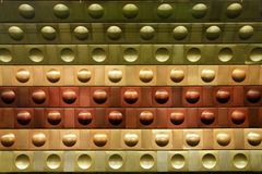 Circles in Prague metro walls Stock Photography