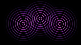 3 circles or radio waves radiating out from the center