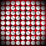Circles on a Red Velvet Background Stock Image