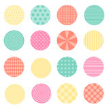 Circles with retro design Stock Photo