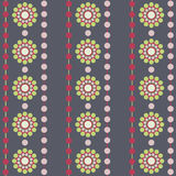 Circles retro style pattern Royalty Free Stock Images