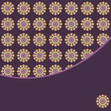 Circles retro style pattern with place for text Royalty Free Stock Photo