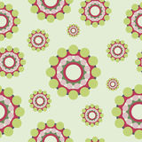 Circles retro style seamless pattern Royalty Free Stock Photo