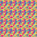 Circles in retro style seamless pattern. (vector eps 10 Royalty Free Stock Images