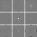 Circles and rings patterns set. Royalty Free Stock Photos