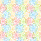 Circles ripples seamless pattern background Royalty Free Stock Photography