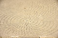 Circles on a roadway Stock Image