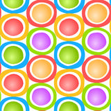 Circles and Rocks Seamless Background. Colorful balls with circles around them Stock Photography