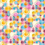 Circles Seamless Background. Abstract Retro Vector Circles Seamless Background vector illustration