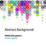 Circles seamless background, bright colors vector Stock Image