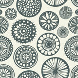 Circles seamless doodle. Royalty Free Stock Images