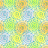 Circles seamless pattern background Royalty Free Stock Photo