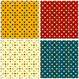Circles seamless pattern collection of retro style Stock Photos