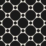 Circles seamless pattern. Geometric texture circular grid. Circles vector seamless pattern. Abstract geometric texture with big and small circular shapes in Royalty Free Stock Images
