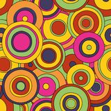 Circles seamless pattern. Pop-art style cirlcles seamless pattern Royalty Free Stock Images