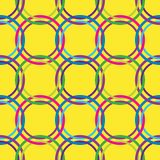 Circles seamless pattern in retro colors Stock Images