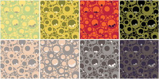 Circles Seamless Pattern v.2 Royalty Free Stock Photos