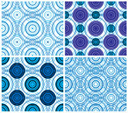 Circles seamless patterns. Stock Photos