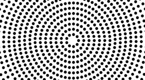 Circles shape a black and white tunnel, optical illusion. vector illustration