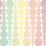 Circles sized seamless pattern Royalty Free Stock Image