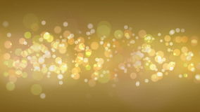Gold Particles Bokeh Background. stock video