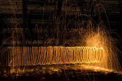 Circles of sparks Stock Photography